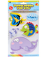 Fab N Funky  Handmade 3D Decoration Stickers -Whale