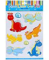 Fab N Funky  Handmade 3D Decoration Stickers - Dinosaurus