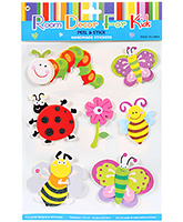 Buy Fab N Funky  Handmade 3D Decoration Stickers - Bee N Butterfly