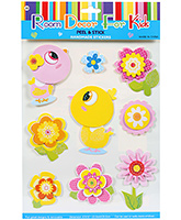 Fab N Funky  Handmade 3D Decoration Stickers - Floral