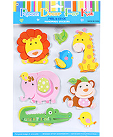 Buy Fab N Funky  Handmade 3D Decoration Stickers - Animals