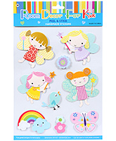 Buy Fab N Funky  Handmade 3D Decoration Stickers - Baby Girl