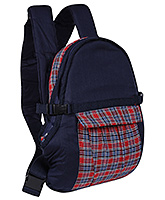 Buy Fab N Funky Check Print Baby Carrier Navy Blue - Upto 14 Kg