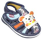 Buy Cute Walk Navy Blue Designer Strap Sandals With Rabbit Motif