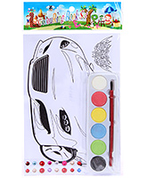Fab N Funky Coloring Book Set with Multicolors - Car Print