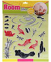 Fab N Funky Room Decor Pop Up Stickers- Aqua World Print
