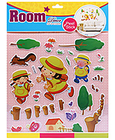 Fab N Funky Room Decor Pop Up Stickers- Boys In jungle Suffari Print