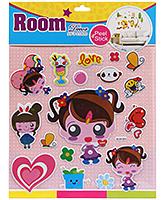 Fab N Funky Room Decor Pop Up Stickers- Love Girls Print