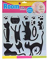 Fab N Funky Room Decor Pop Up Stickers- Black Cats Print