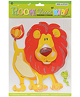 Fab N Funky Handmade Decor Stickers - Lion Design