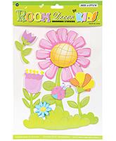 Buy Fab N Funky Handmade Decor Stickers- Flowers Design
