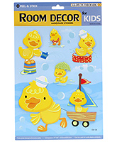 Fab N Funky 3D Decor Handmade Duckling Sticker - Yellow