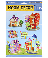 Fab N Funky 3D Decor Handmade House Print Sticker