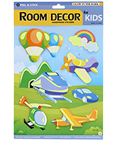 Fab N Funky Room Decor 3D Flying Object Stickers