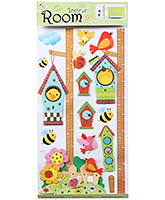 Fab N Funky Room Decor 3D Honey Bee and Bird Sticker