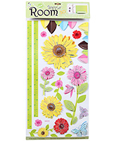 Fab N Funky Room Decor 3D Flower Sticker