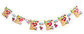 Fab N Funky Heart Print Birthday Banner - 6 pieces