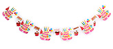 Fab N Funky Candle Print Birthday Banner - 6 pieces