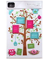 Fab N Funky Decor 3D Photo Frame with Tree Sticker
