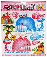 Fab N Funky Room Decor 3D Handmade Stickers- Aqua World