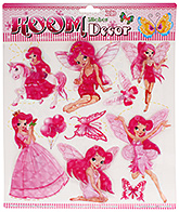 Fab N Funky Room Decor 3D Handmade Stickers- Girls with Wing