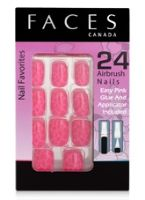 Faces Nail Favorites 24 Airbrush Nails