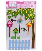 Fab N Funky Room Decor 3D Tree with House Sticker