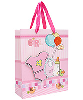 Buy Fab N Funky Baby Shirt Printed Gift Bag- Pink