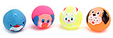 Fab N Funky Animal Face Design Baby Bath Toys- Set of 4