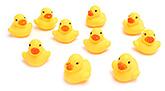 Fab N Funky Duck Shape Baby Bath Toys- Set of 10