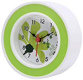 Fab N Funky Flower Print Baby Clock- Green and White