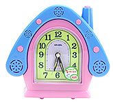 Fab N Funky House Shape Alarm Clock- Pink and Blue