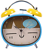 Fab N Funky So Sweet Print Alarm Clock- Blue and Yellow