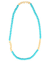 Fab N Funky Sky Blue Colour Necklace - Free Size