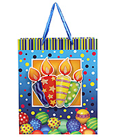 Fab N Funky Candles Print Gift Bag- Blue