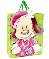 Buy Fab N Funky Girl Bear Print Gift Bag- Green