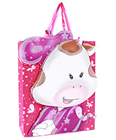 Buy Fab N Funky Cow Face Print Gift Bag- Pink