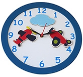 Buy Kidoz Aeroplane Motif Clock