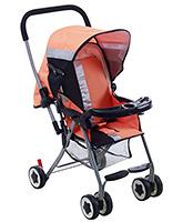 Buy Fab N Funky Stroller Orange And Black - World Baby Print
