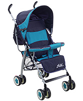 Buy Fab N Funky Stroller Green And Navy Blue