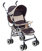 Buy Fab N Funky Stroller Coffee And Cream Colour