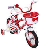 Buy Fab N Funky Bicycle with Basket - Red and Pink