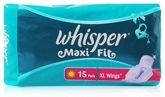 Whisper-Maxi Fit Sanitary Napkins - XL Wings