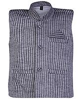 Buy Babyhug Sleeveless Front Open Jacket Grey