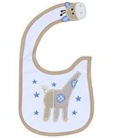 Buy Carters Giraffee Print Baby Bib- Coffee and White