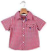 Buy Beebay Half Sleeves Shirt Red Checks