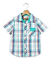 Beebay Half Sleeves Checkered Shirt - Green