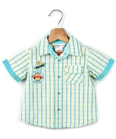 Buy Beebay Half Sleeves Shirt Yellow - Checks Pattern