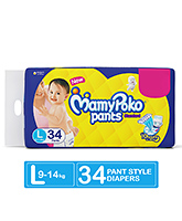Mamy Poko Pants Standard Pant Style Diapers Large - 34 Pieces