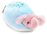 Buy Morisons Baby Dreams Elephant Appliqued Baby Booties - Pink And Blue